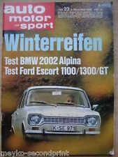 Auto Motor Sport 23/1968, BMW 2002, Ford Escort 1100