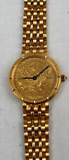 MAGNIFICENT CORUM 18K 5 $ GOLD COIN LADY'S WATCH QUARTZ ,WITH BOX.