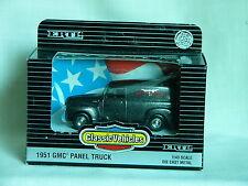 1/43-1951 GMC Panel Truck-Metallic Charcoal-Ertl-1993