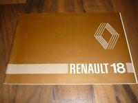 RENAULT 18 R18 original HANDBUCH Jahr 1980 Betriebsanleitung Bedienungsanleitung