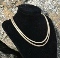 Vintage Statement Necklace Fashion Chic Jewelry Gold Silver Tone Bib Chain VTG .