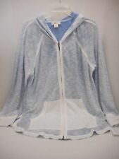 Ladies' Style & Co Blue/White Pocketed Hoodie Top Size L NWT!!!