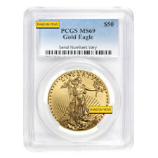 1 oz $50 Gold American Eagle PCGS MS 69 (Random Year)