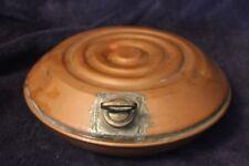 Vintage/Antique Cuivre Pied/bed warmer Rond Bouteille d'eau chaude no 1 copper