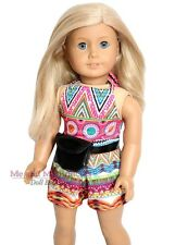 Summer Halter Top Shorts and Purse fits 18 inch American Girl Doll clothes