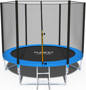 Trampoline 8FT Premium 252cm + Internal Safety Net Spring Cover Pad Tool HEAVY