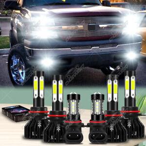 For Chevy Silverado 1500 2500 HD 2003-2006 Combo LED Headlight + Fog Light Bulbs