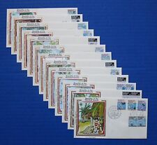 "Marshall Islands (35-49A) 1984-1985 Maps & Navigation Colorano ""Silk"" Fdcs"