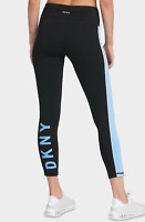 DKNY Logo Print Women's Sport Athletic Yoga Pants Workout Leggings 7/8 Length M