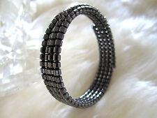 Magnetic / hematite bracelet, multi-strand – Short tube beads, FREE SHIPPING!