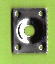Electric Guitar Jack Socket Plate, Metal, Chrome, with screws.