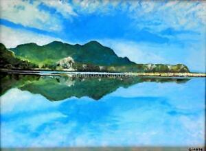 Lake Koycegiz Limited Edition A3 Print Turkish Landscape Realism Reflection