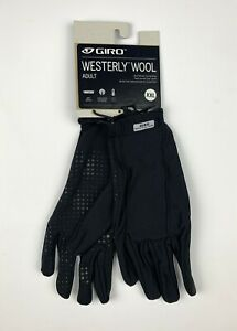 Giro Westerly Wool Full Finger Cycling Gloves Size 2XL Black New