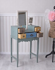 Make-Up Table Vintage Dressing Patchwork Drawers with Mirror