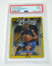 STEPHON MARBURY 1996-97 TOPPS FINEST ROOKIE GOLD REFRACTOR W/ COATING PSA 9 MINT