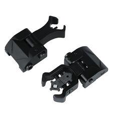 Rapid Transition Flip Up Front Rear Folding Iron Metal Sight Set Back Up Hunting