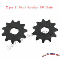 2x Electric Scooter 11 Tooth Sprocket T8F Chain For Pinion Gear MY1020 Motor
