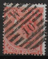 SG79. 4d.Bright Red (Plate 3). Slightly Heavy But Sharp London Cancel. Ref.07225