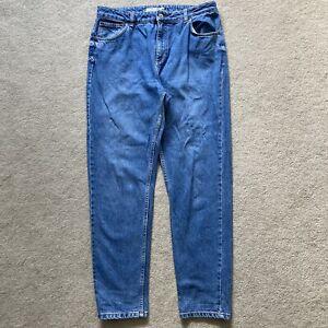 Topshop Moto Mom jeans W34 L32 blue denim 12