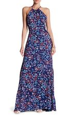 Parker Women's Floral Maxi Dress NWT $415 Halter Neck Spaghetti Straps Large L