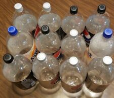 Lot of 12 Empty 2 Liter Clear Plastic Bottles for Art Craft Science Gardening