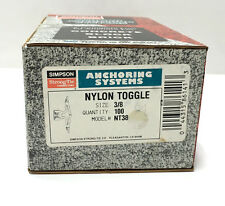 """Simpson Strong-Tie NT38 Nylon Toggle, 3/8"""", Box of 100"""