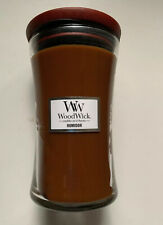 YANKEE CANDLE WOODWICK HUMIDOR 21.5 oz LGE CRACKLING HOURGLASS JAR CANDLE HTF