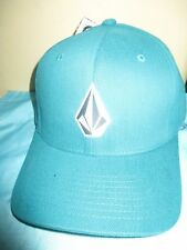 NEW VOLCOM FULL STONE HAT BALL CAP FLEXFIT MENS S/M Green