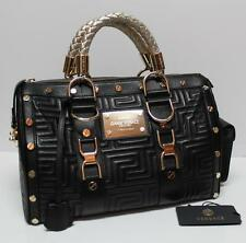 Rare Gianni Versace Couture MADONNA Black Speedy Tote Bag Greek Key SALE