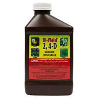 2, 4-D Broadleaf Weed Killer Herbicide Lawn Ponds Drainage Ditch 1 Qt Makes 6Gls