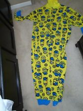 ADULT XXL (20) DESPICABLE ME - MINION ONE PIECE HOODED PAJAMAS - USED