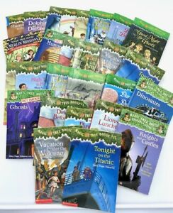 Complete lot of 10 random Magic Tree House Books Research guide Paperback Fun