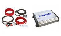 Hifonics Zeus ZXX-1200.1D 1200W RMS Mono Block Car Audio Amplifier Amp + Amp Kit