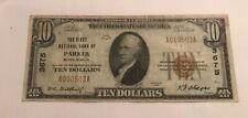Parker , South Dakota  ,$10 ,1929 type one ,First National  bank , VF