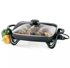 NEW Presto 16 inch Electric Skillet With Glass Cover Lid, Model 06852 Frying Pan