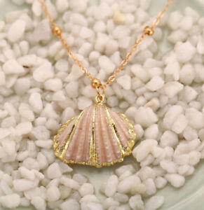 Boho Conch Shells Necklace Sea Beach Shell Pendant Necklace For Girls Jewelry