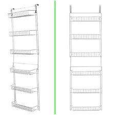 Storage Over The Door Basket Rack 5 Foot Pantry Organizer 6 Shelves Steel New