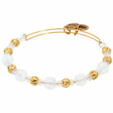 Alex and Ani Cloud Swarovski Crystal Beaded Shiny Gold Bangle A17EB11SG
