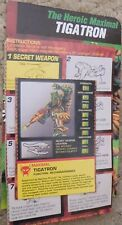 Transformers Beast Wars TIGATRON Tiger Deluxe BIO CARD AND INSTRUCTIONS