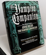 The Vampire Companion by Katherine Ramsland - Anne Rice - First edition