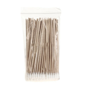 100pc Wood Sticks Cotton Swabs 100% Cotton Tips Wooden Applicator Double Q-Tips
