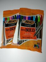 BIC CRISTAL XTRA: BOLD 10 BALL PENS NIP offer to include  2 packs of 10