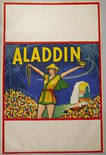Art Deco 1930s Aladdin Pin-Up Orientalist Theater Poster Stone Lithograph