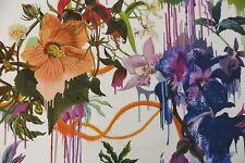 Designers Guild Curtain Fabric Orchids Fantasia 130 Cm X 86 Perce NEIGE Lacroix