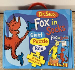 DR SEUSS Fox in Socks Giant Puzzle Box Huge 48 Piece Floor Puzzle