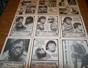 9 Vintage Wrestling Programs Tommy Gilbert Loe Leduc Jimmy Valiant & More