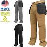 Black Grey Khaki Mens Heavy duty Work Pants Hostler Pocket Cargo Work Trousers