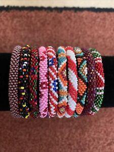 10 SET - Bracelet- Made in NEPAL - 100% Handmade seed beaded Bangle Gift