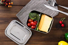 Three Compartments 1000ML Stainless Steel Bento Lunch Box Small Food Container