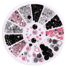 3D Nail Art Decoration Glitter Rhinestones PINK AB Diamante Crystals 400 PIECES
